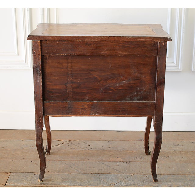 20th Century Louis XV Style Inlay Commode with Bronze Mounts For Sale - Image 12 of 13
