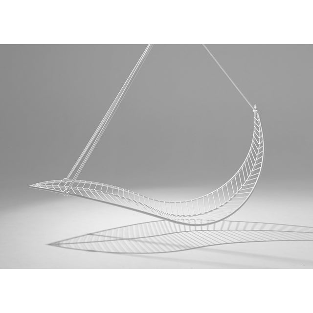 Not Yet Made - Made To Order Leaf Hanging Swing Chair - White For Sale - Image 5 of 7