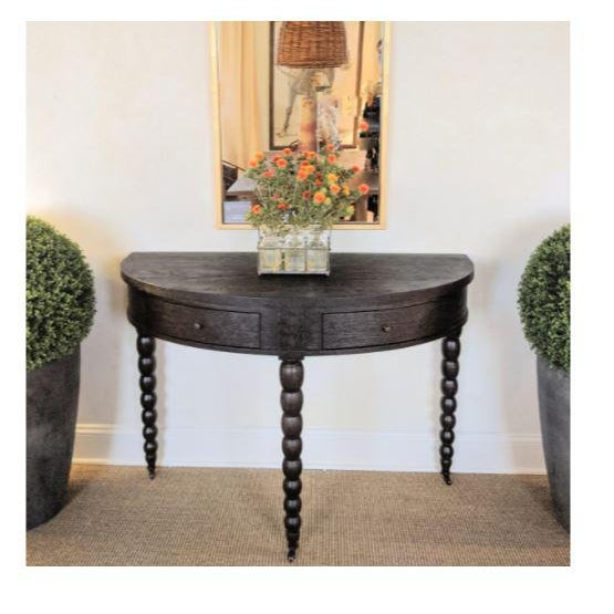 2020s Salutation Demilune Console Table from Kenneth Ludwig Chicago For Sale - Image 5 of 6