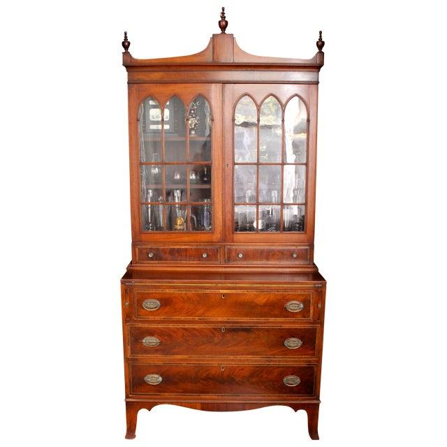 Federal Mahogany Secretary Bookcase - Image 1 of 5