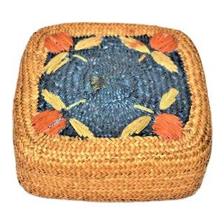 Vintage Lidded Fruit Basket For Sale