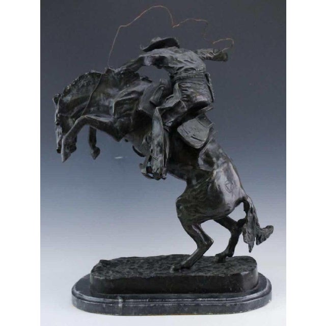 Late 20th Century After Frederic Remington, Bronco Buster For Sale - Image 5 of 8