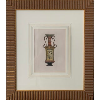19th Century Antique Greek Urn Henry Moses Original Engraving Print For Sale