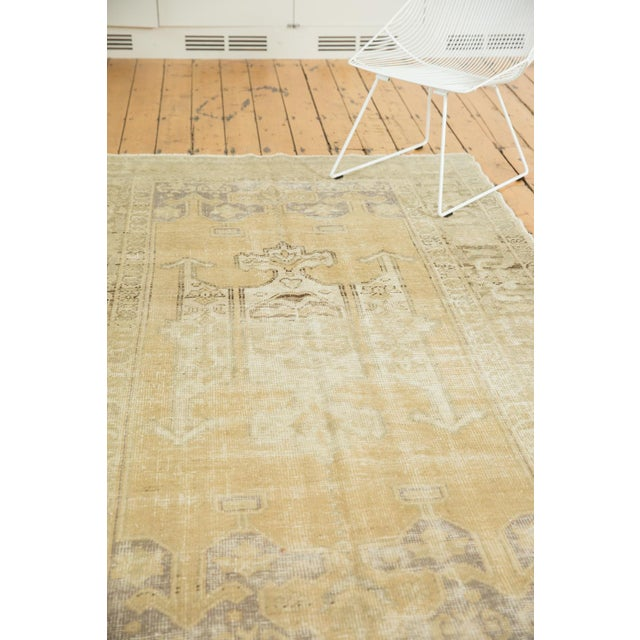 """Vintage Distressed Oushak Carpet - 5'6"""" X 9'1"""" For Sale In New York - Image 6 of 13"""