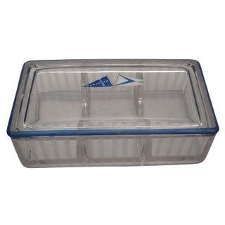 Nautical Trinket Box Art Deco Glass 1920s For Sale