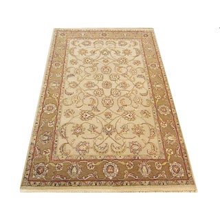 Floral Indian Handwoven Jaipur Rug - 4'×6'1'' For Sale