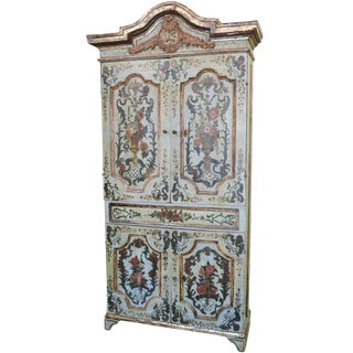18th Century Italian Painted Cabinet For Sale