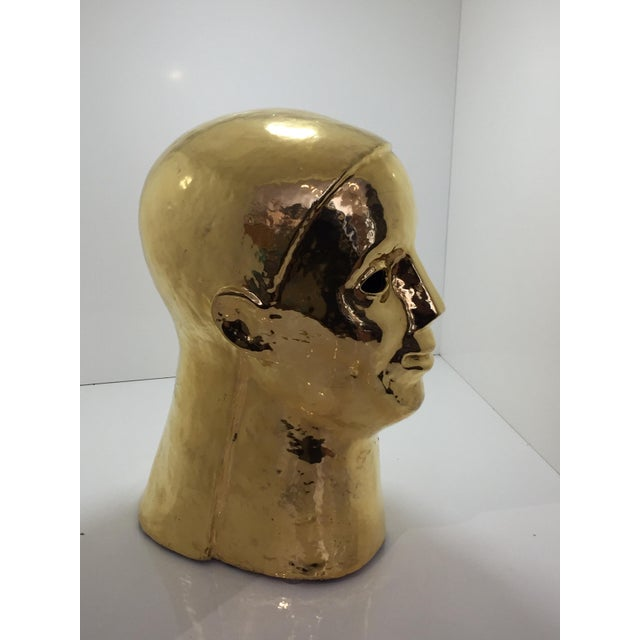 Robust Italian gold bust from Neiman Marcus from the 70's