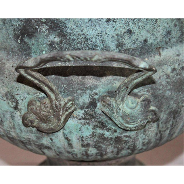 19th Century Patinated Copper Urn With Handles For Sale In Los Angeles - Image 6 of 7