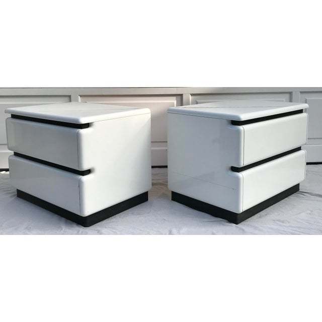 Pair of Roger Rougier Post-Modern Nightstands For Sale - Image 11 of 13