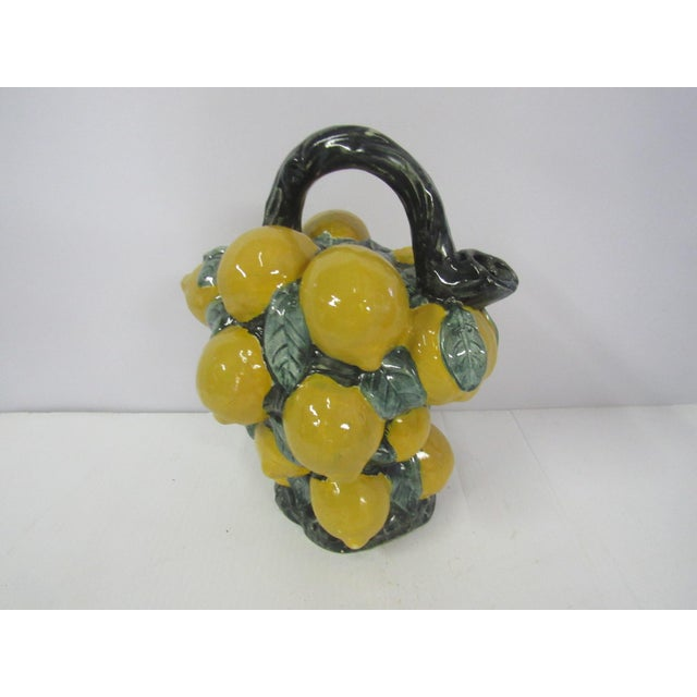 French Majolica Lemon Pitcher - Image 10 of 10