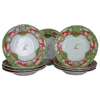 Mason's Armorial Ironstone Soup Plates - Set of 9 For Sale