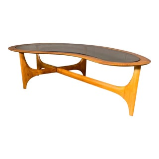 Mid-Century Modern Lane Biomorphic Coffee Table For Sale
