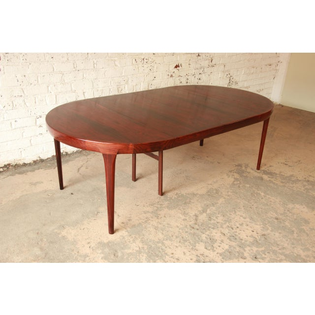 Red Ib Kofod Larsen Rosewood Extension Dining Table For Sale - Image 8 of 11