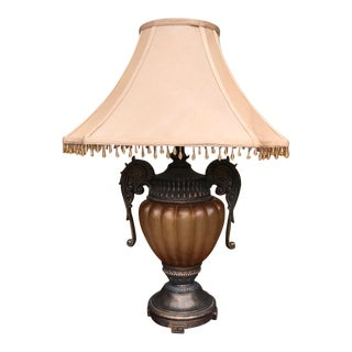 Beaded Amber Resin Table Lamp For Sale