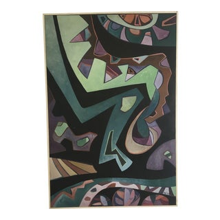 Midcentury Modern Abstract on Board For Sale