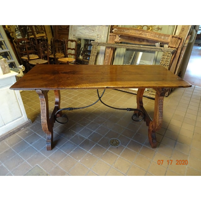 19th Century Spanish Walnut Dining Table For Sale - Image 13 of 13