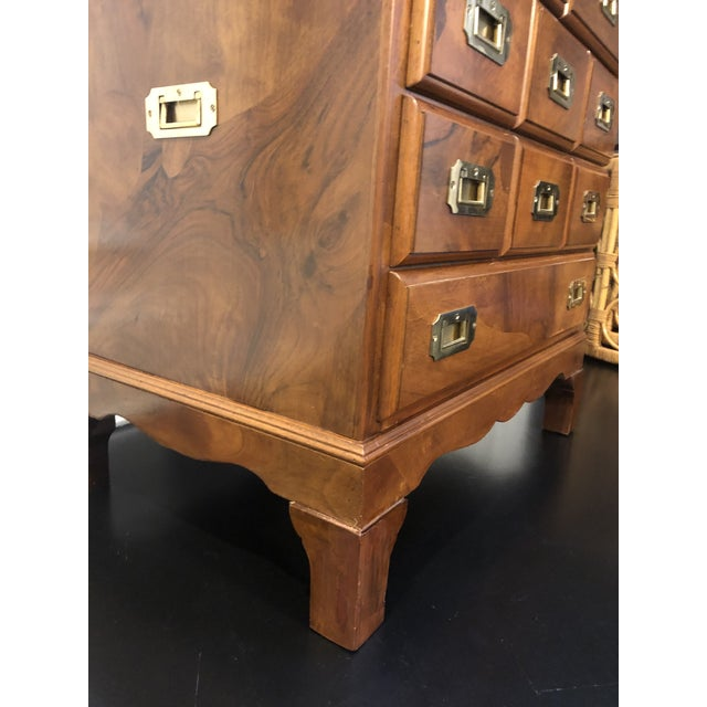 Drexel Heritage Italian Campaign Style Chest of Drawers For Sale - Image 4 of 12