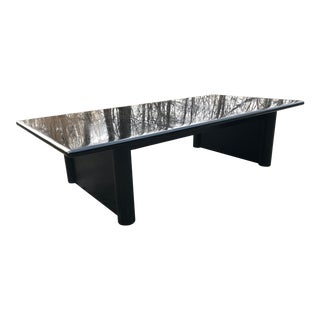 Vintage Coffee Table Black Lacquer For Sale
