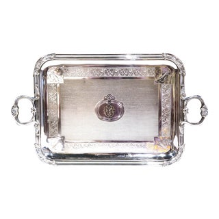 19th Century French Silver Plated Tray Signed Pelloutier & Cie, 1894 For Sale