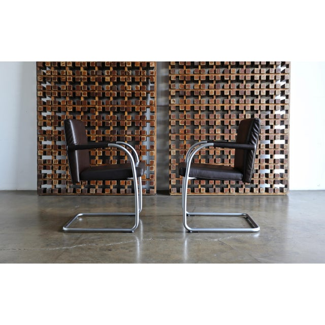 Mid-Century Modern Leather Armchairs by Antonio Citterio & Glen Oliver Low for Vitra - Set of 4 For Sale - Image 3 of 10