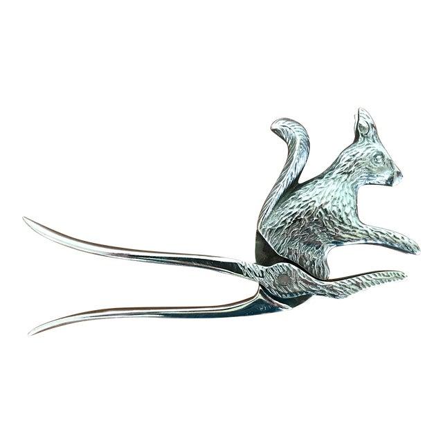 Vintage Silver Squirrel Nutcracker For Sale