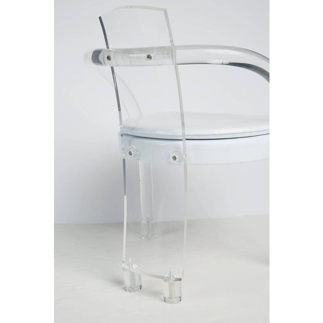 Hill Manufacturing Lucite Waterfall Armchairs - Set of 4 For Sale - Image 9 of 11