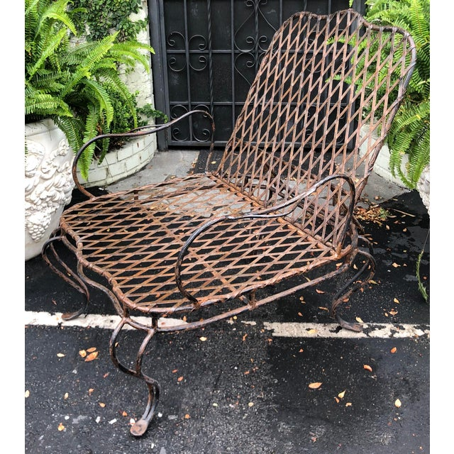 2000 - 2009 Rose Tarlow Wrought Iron Outdoor Lounge Chairs - a Pair For Sale - Image 5 of 10