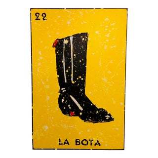 """La Bota"" Painting From ""La Lotería"" by Carlos E. Ortiz For Sale"