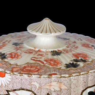 Victorian English Ceramic Cheese Dome With Printed and Hand Painted Decoration Preview