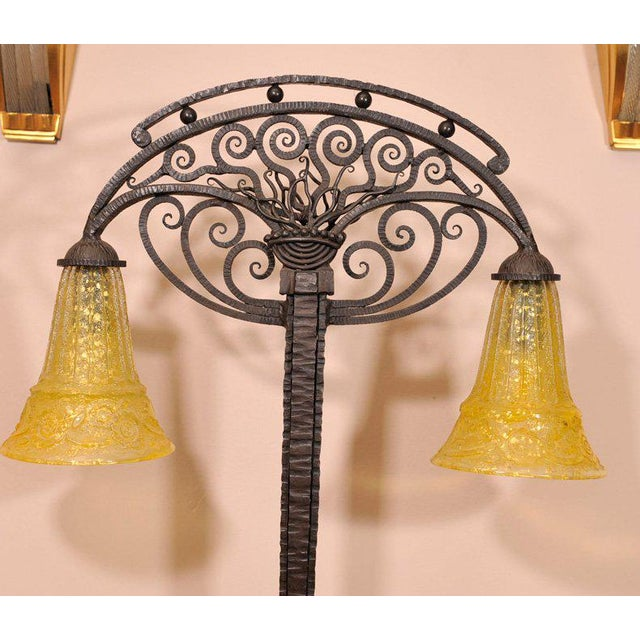 Art Deco Art Deco Table Lamp With Glass by Daum For Sale - Image 3 of 8