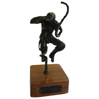 1970s Vintage Abbott Pattison Bronze Man For Sale