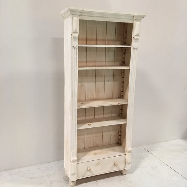 Rustic Tall White Shelf - Image 2 of 9