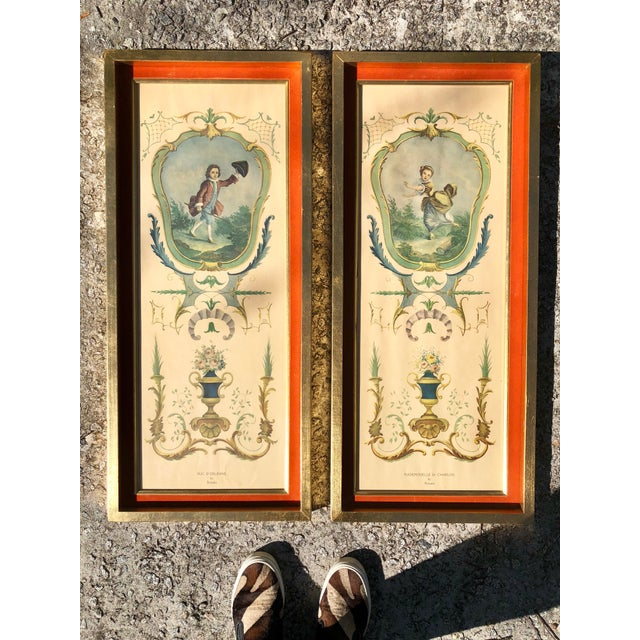 Neoclassical Framed Lithograph Prints - a Pair For Sale - Image 12 of 12