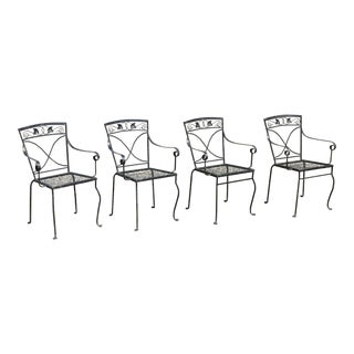 Vintage Mid Century Salterini Mt.Vernon Maple Leaf Stacking Arm Chairs- Set of 4 For Sale