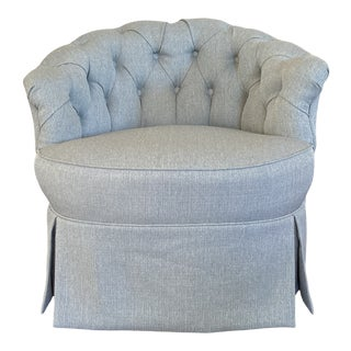 1940s Vintage Tufted Chair For Sale
