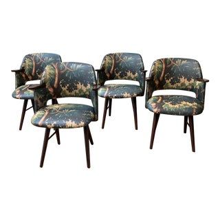 Restored 1960s Vintage Cees Braakman for Pastoe Dining Chairs - Set of 4 For Sale