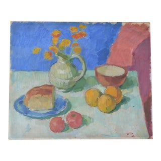 Still Life Painting by Wilhelm Wills For Sale