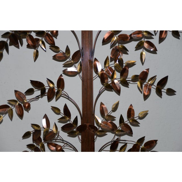Curtis Jere Curtis Jere Copper Toned Metal Tree Sculpture C.1970s For Sale - Image 4 of 7
