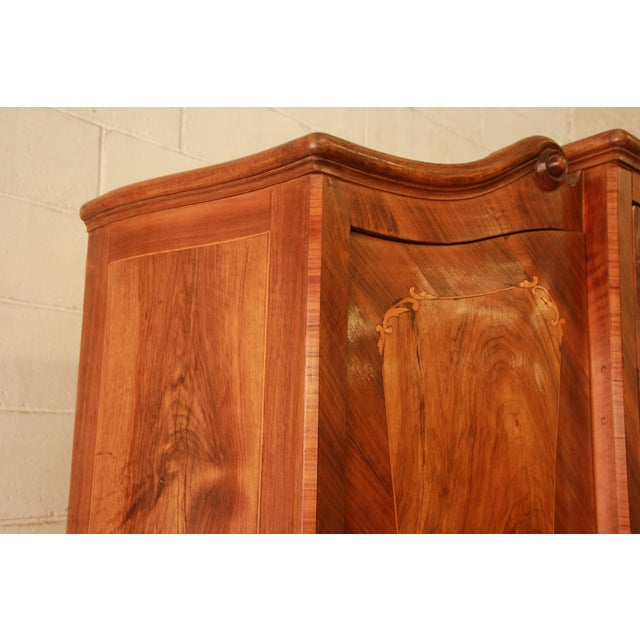 Glass 1870's Burled and Inlaid French Knockdown Wardrobe For Sale - Image 7 of 13