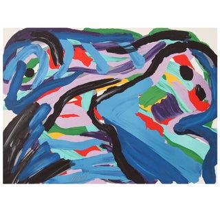 """Karel Appel """"Floating in a Landscape"""" Lithograph For Sale"""