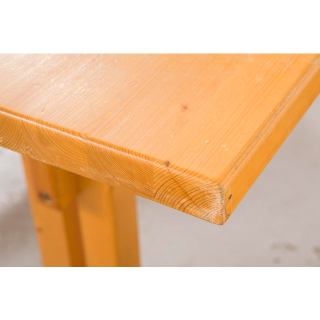Modern Les Arcs Pine Dining Table by Charlotte Perriand For Sale - Image 3 of 9