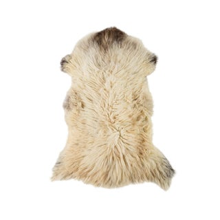 "Contemporary Hand-Tanned Sheepskin Pelt - 2'2""x3'6"" For Sale"