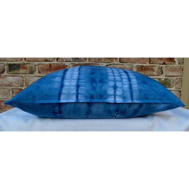 Indigo Blue Shibori Pillow - Image 3 of 5