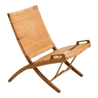 Hans Wegner Folding Chair for Johannes Hansen, Model JH512, 1950s For Sale