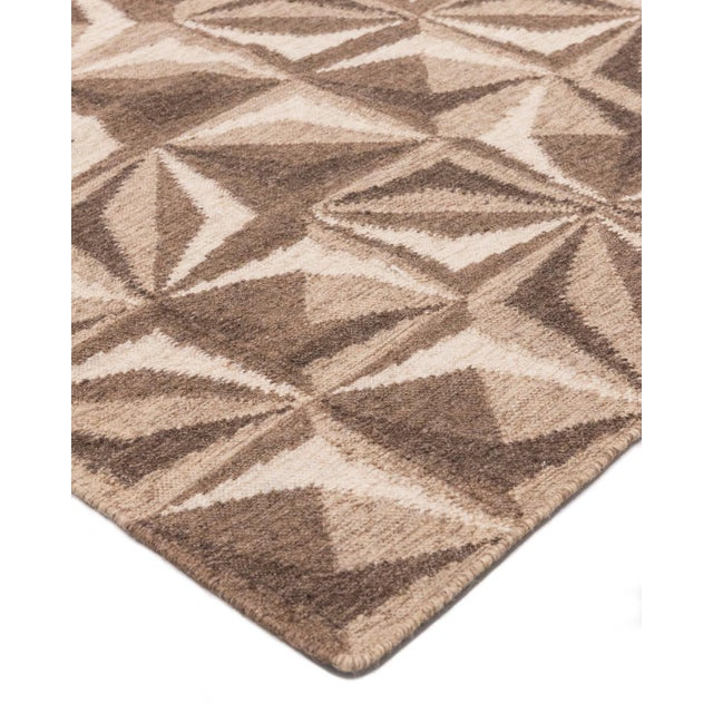 Color: Beige - Made in: India. 100% Wool. Notable for their unique construction, our flatweave rugs are extremely durable,...