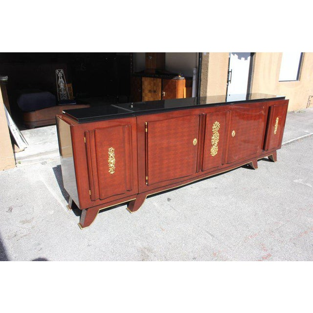 1930s French Art Deco Jules Leleu Rosewood Sideboard For Sale In Miami - Image 6 of 11