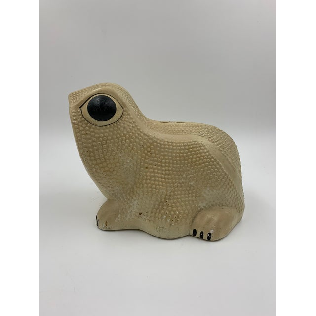 Vintage Chalkware Frog Bank For Sale - Image 4 of 11