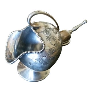 Antique Silver Plate Sugar Scuttle (Bowl, With Scoop)