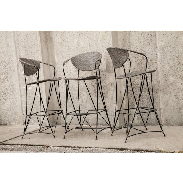 David Francis Indoor Zen Barstools - Set of 3 For Sale In West Palm - Image 6 of 6